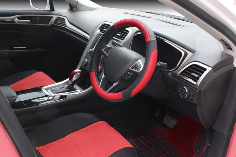 Seg Black And Red Auto Car Wheel Cover Univer