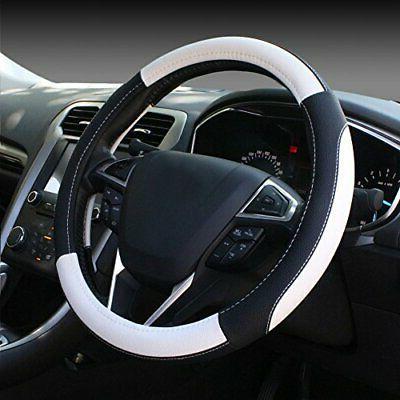 black and white microfiber leather auto car