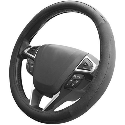 "SEG Black Microfiber Leather Steering Cover for Prius Civic - 14.25"""