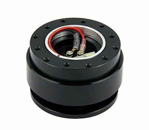black steering wheel quick release