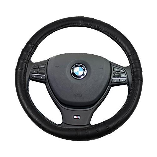 black universal 15 inch steering wheel cover