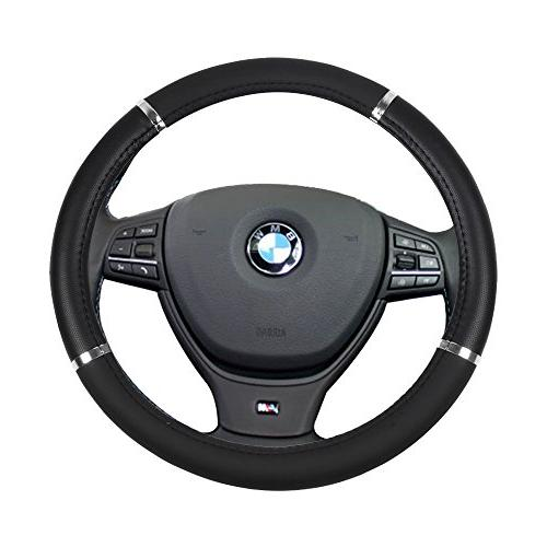 black with silver universal 15 inch steering
