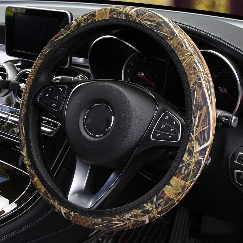 Camouflage Fit Most Cars Car <font><b>Steering</b></font> Cover Auto <font><b>Accessories</b></font>