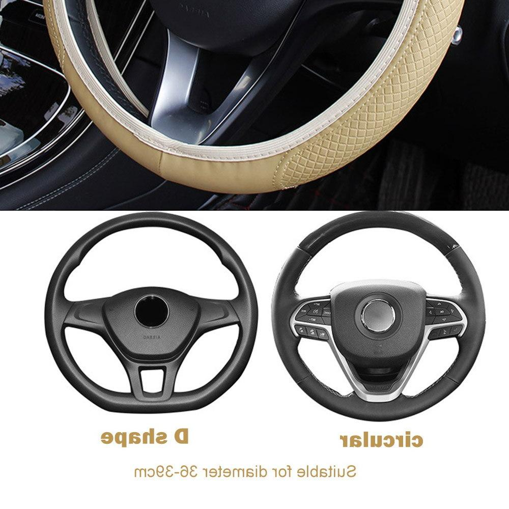 FORAUTO Car Cover <font><b>wheel</b></font> Embossing Leather