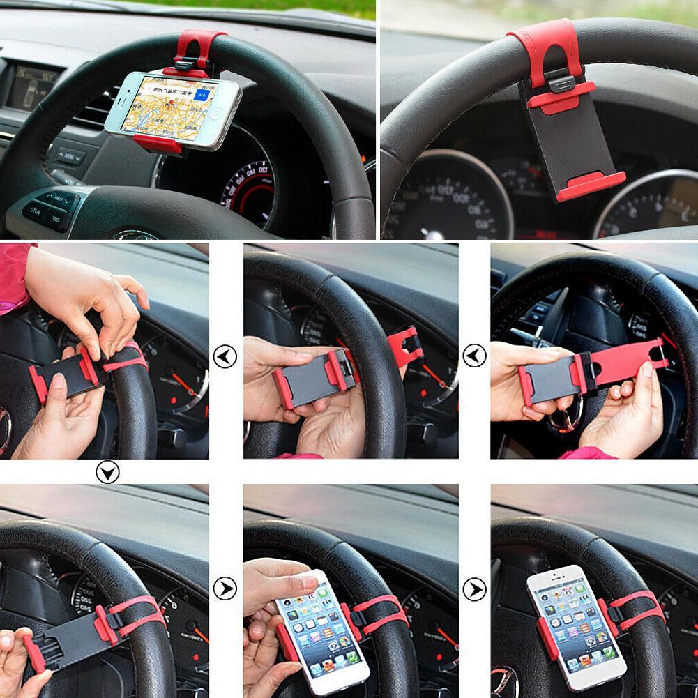 Car Wheel Mount Holder For iPhone Smart GPS