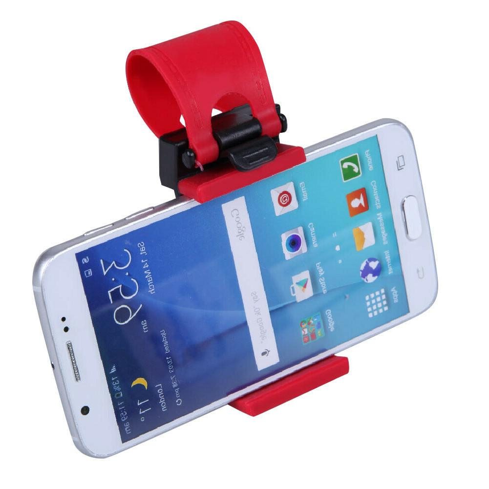 Car Steering Mount Holder Band iPhone Smart Phone GPS WF