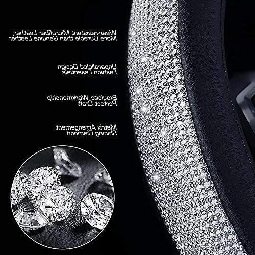 "ESKONKE D Type Car Steering and Elegant Design + Soft and Durable Universal 15"" 38cm"