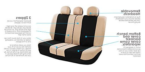 FH Group Seat Cover Combo Set with Steering Cover Seat