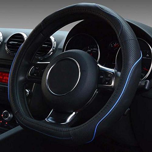 "Flat Bottom Steering D Wheel - 15"" Blue"