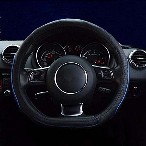 flat bottom steering wheel cover genuine leather