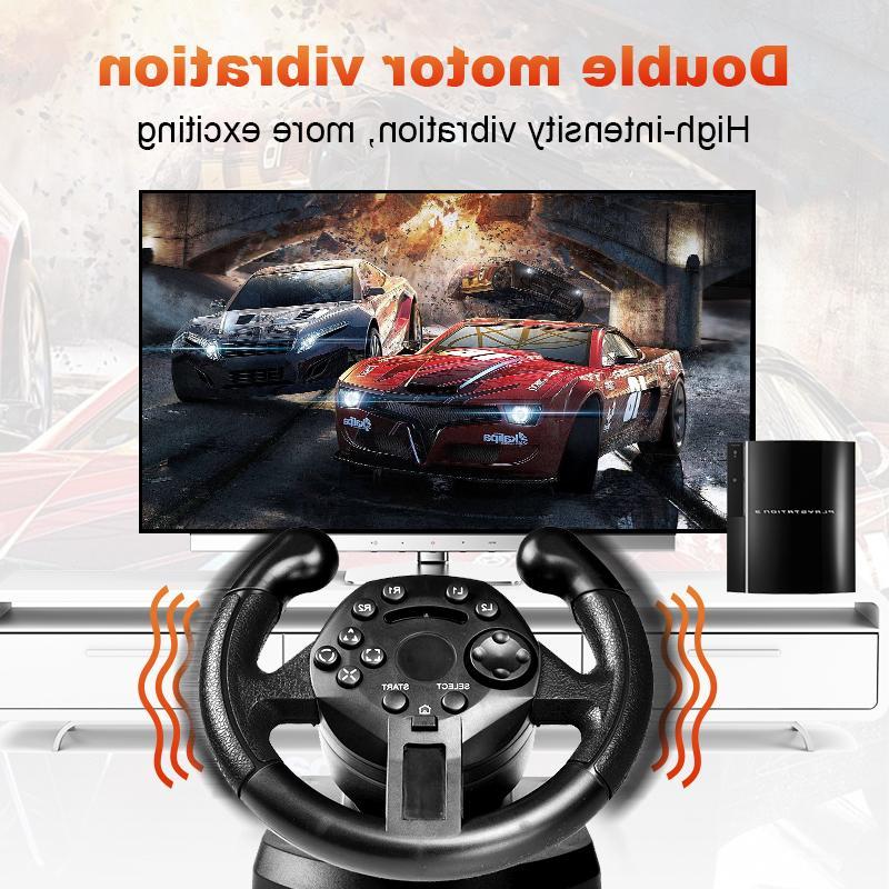 GTIPPOR <font><b>Steering</b></font> <font><b>Wheel</b></font> For Game <font><b>Steering</b></font> <font><b>Wheel</b></font> Vibration Remote For