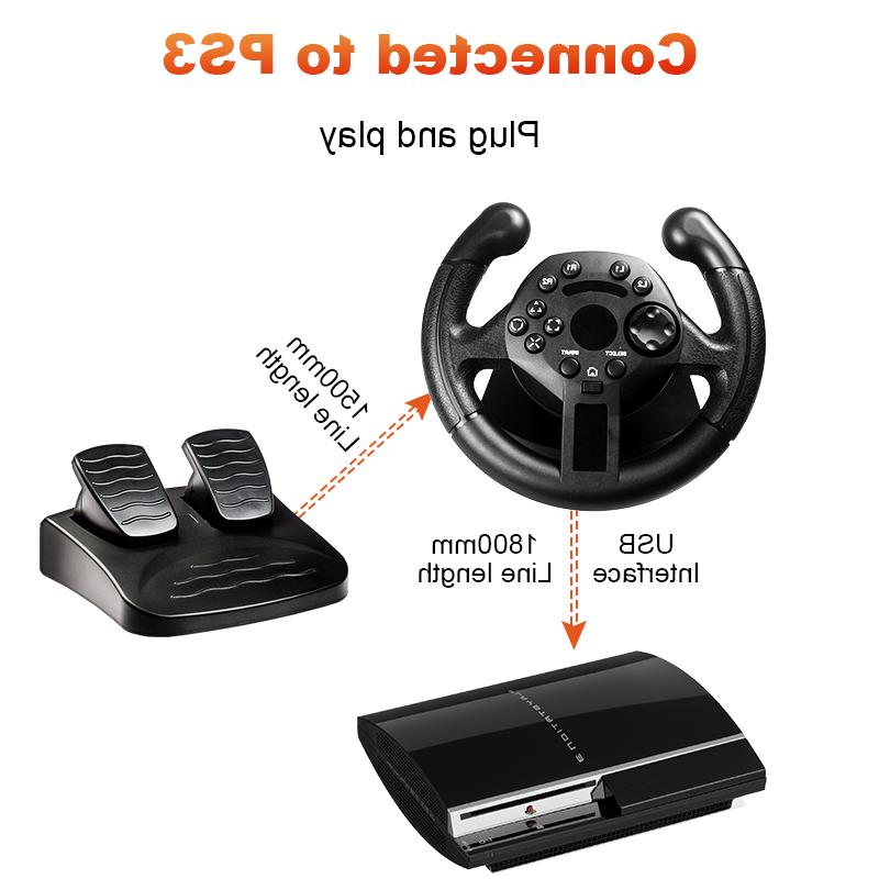 GTIPPOR <font><b>Wheel</b></font> For Game <font><b>Wheel</b></font> Vibration Remote For PC