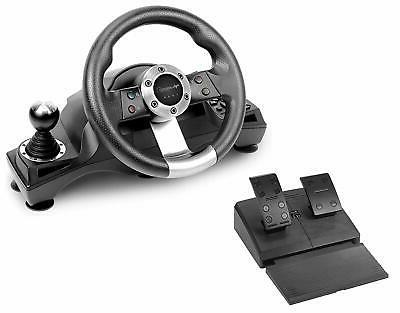 gaming racing steering wheel shifter pedal set