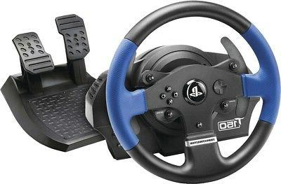 gaming steering wheel includes pedals controllers attachment