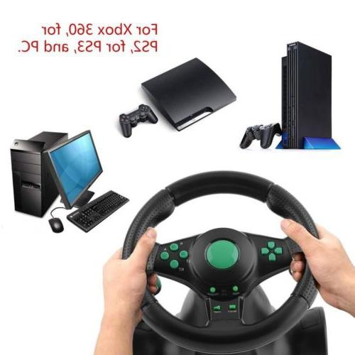 Gaming Vibration Racing Wheel and Pedals for XBOX 360 USB