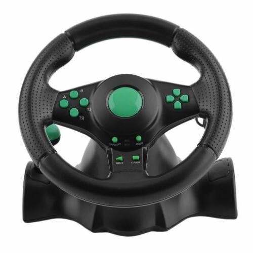 Gaming Vibration Racing Wheel and for XBOX PS3 USB