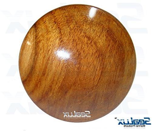 SeaLux 2-5/8 INCH Genuine Teak Wood BOAT CENTER WHEEL for Boat Steel Wheels