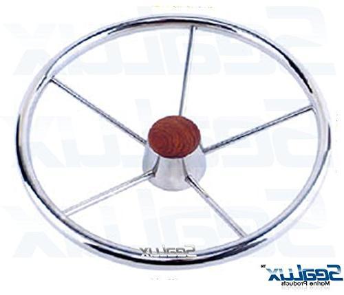 SeaLux Marine 2-5/8 INCH Genuine Teak Wood CENTER Wheels