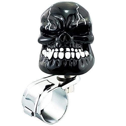lunsom cool power handle spinner skull steering