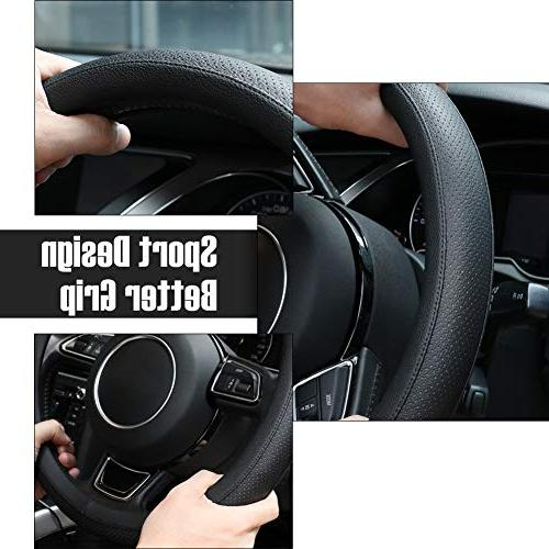 SEG Microfiber Black Steering Wheel for -