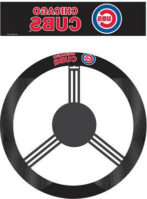Chicago Cubs MLB Poly-Suede Steering Wheel Cover