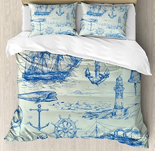 nautical anchor duvet cover set
