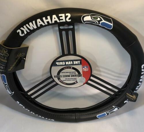 nfl leather steering wheel cover seattle seahawks