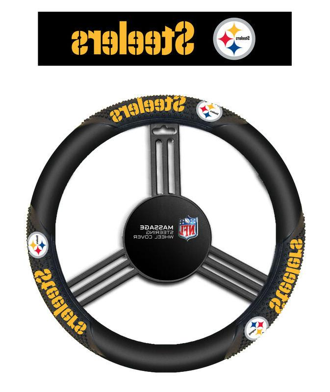 Fremont Die NFL Massage Grip Steering Wheel Cover