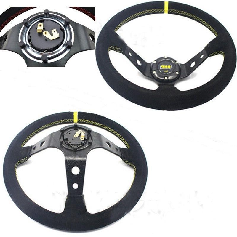 OMP car <font><b>wheel</b></font> Aluminum+suede