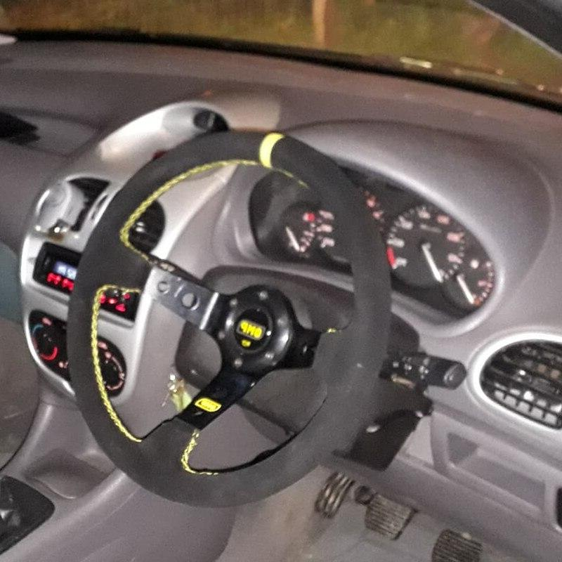 OMP Sport <font><b>steering</b></font> <font><b>wheel</b></font> quality universal Aluminum+suede