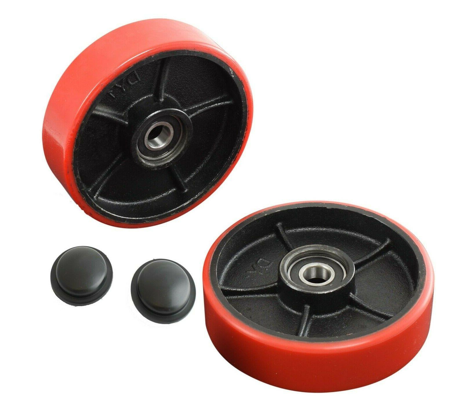 Brand New Pallet Jack/Truck Steering Wheels Set  with Bearin