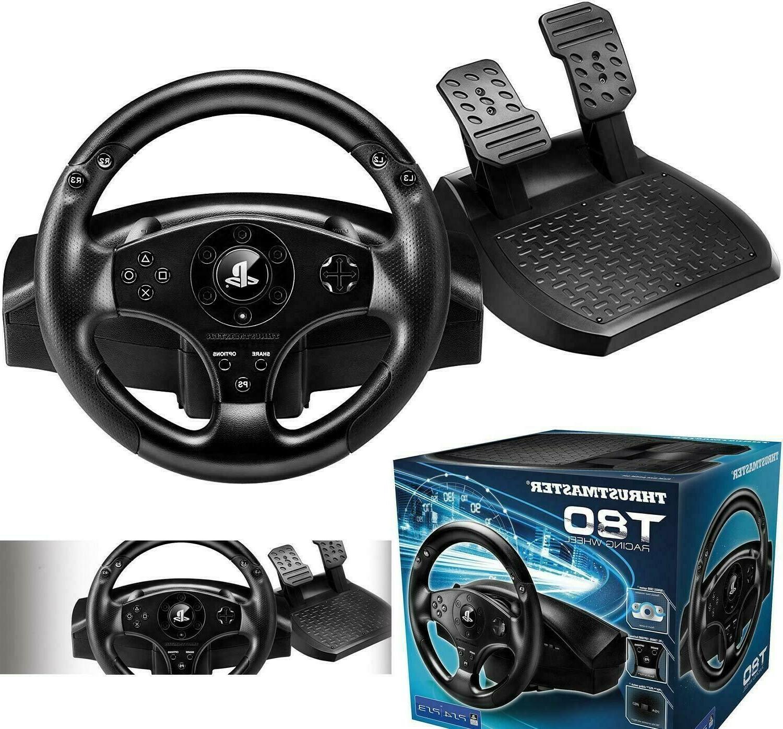 playstation 4 steering wheel pedal set racing