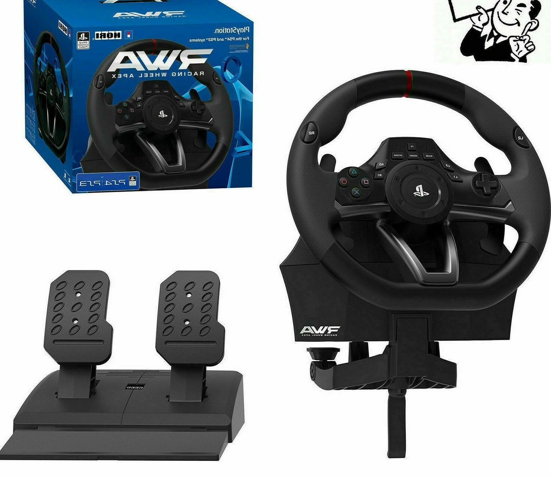 playstation steering wheel pedal set