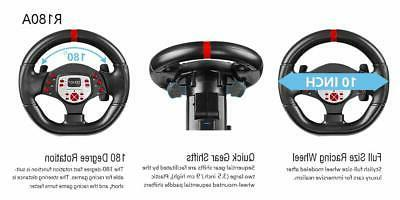 DOYO Racing Wheel for PS4/PS3/SWITCH/PC/Android Plug Play