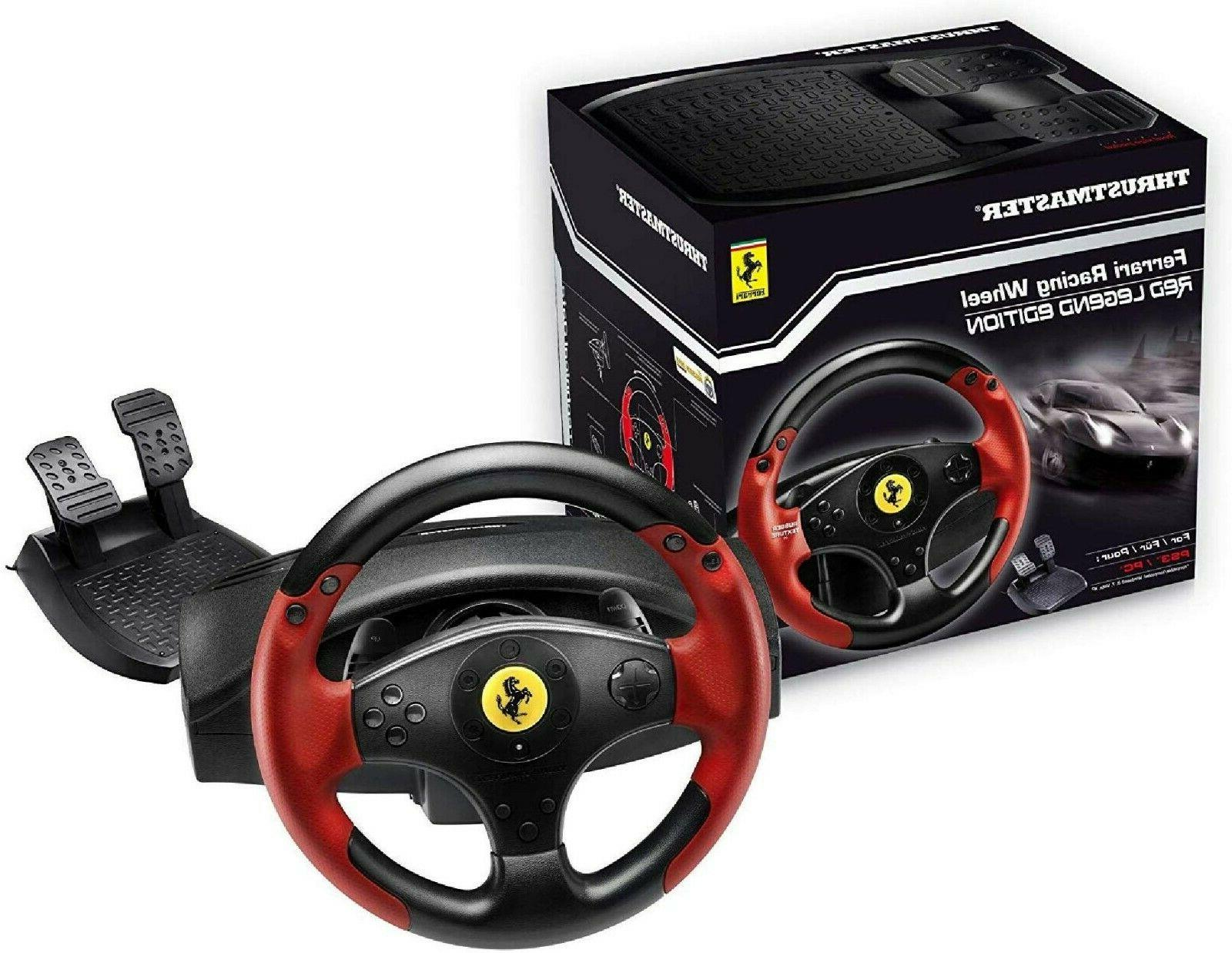 PS3 Racing Steering Wheel & Pedals Gaming Driving Simulator