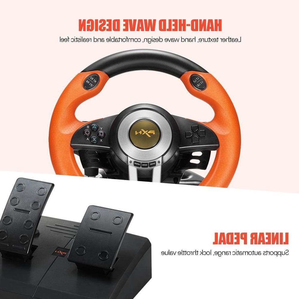 PXN <font><b>Racing</b></font> Pad 180 <font><b>Wheel</b></font> Foldable PS3 All-in-one