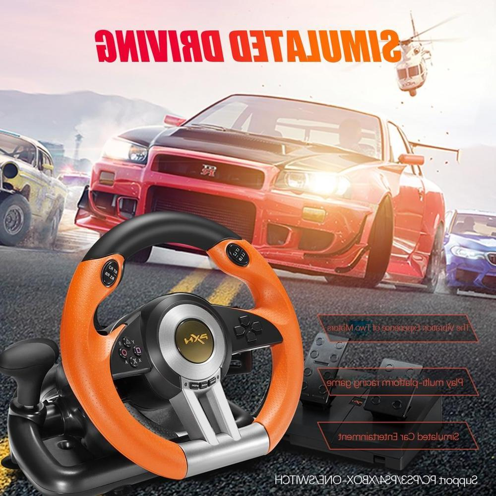 PXN V3II <font><b>Racing</b></font> <font><b>Game</b></font> Pad <font><b>Wheel</b></font> Joysticks Foldable Pedal PS3 PS4