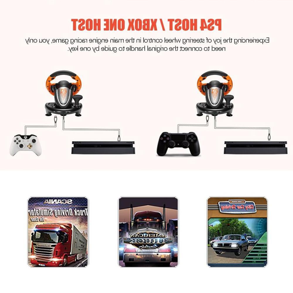 PXN V3II <font><b>Racing</b></font> Pad 180 Degree <font><b>Wheel</b></font> Vibration Foldable PS3