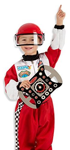Melissa & Doug Race Car Driver Role Play Costume Set  - Jump