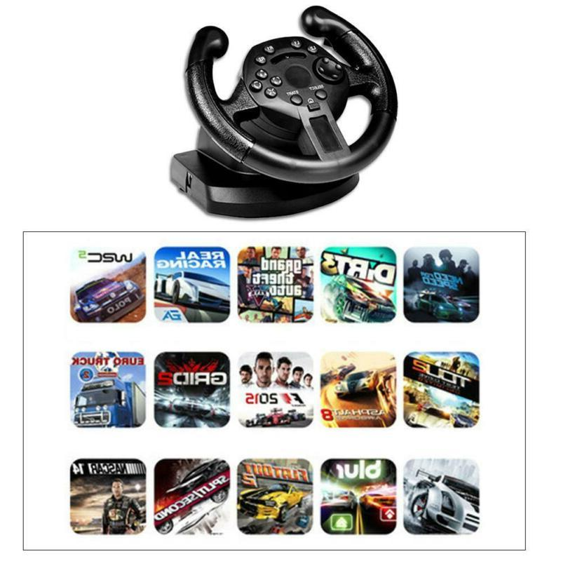 Racing Steering Wheel Driving W/ Brake For PC Xbox H3Y5R
