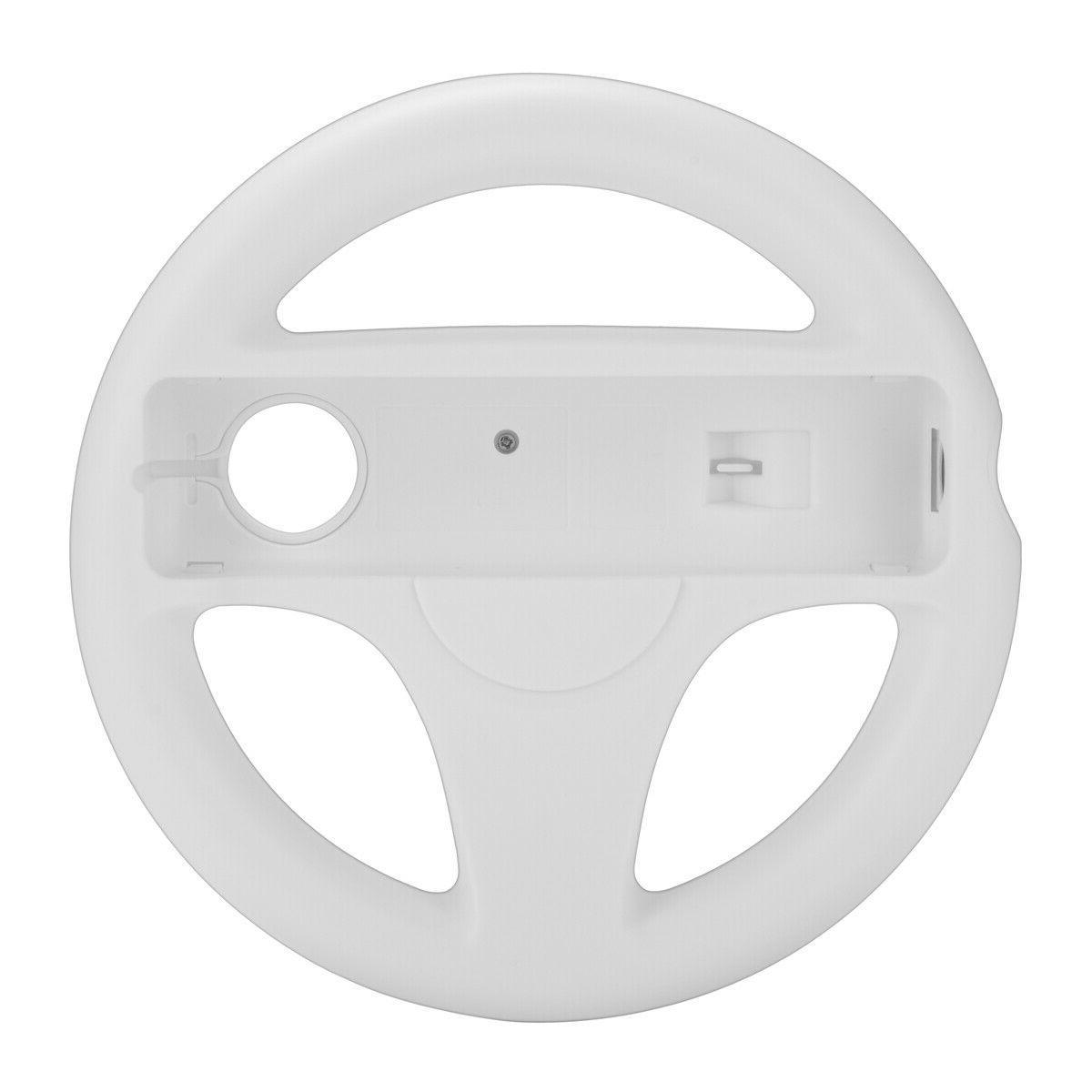 2Pc Racing Steering Wheel For Nintendo Wii Mario