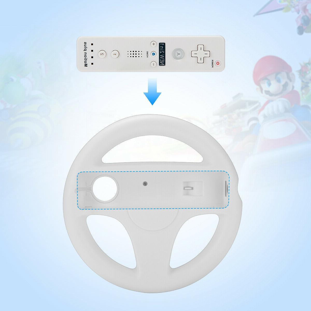 2Pc Wheel Wii Mario Kart Remote Controller