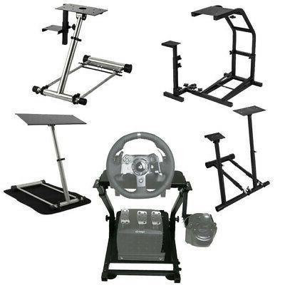 racing simulator cockpit steering wheel stand