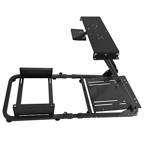 IKON MOTORSPORTS Racing Simulator Steering Wheel Stand For Logitech G29 Thrustmaster W/Adjustable Racing