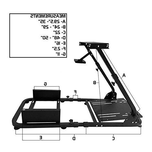 IKON MOTORSPORTS Racing Steering Wheel Compatible For Thrustmaster W/Adjustable Blue PVC Racing