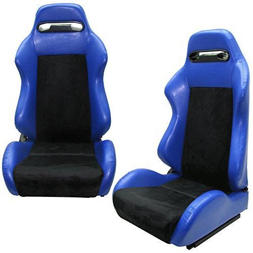 IKON Racing Steering For Thrustmaster W/Adjustable Blue Racing