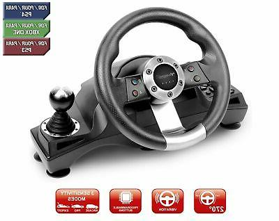 Racing Steering Wheel Shifter Pedal Set for Playstation 4 PS