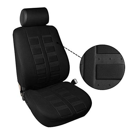 cciyu Seat Car Seat Cover/Steering Cover/Belt Pad - Breathable Car Seat Cover Auto Covers fit Most