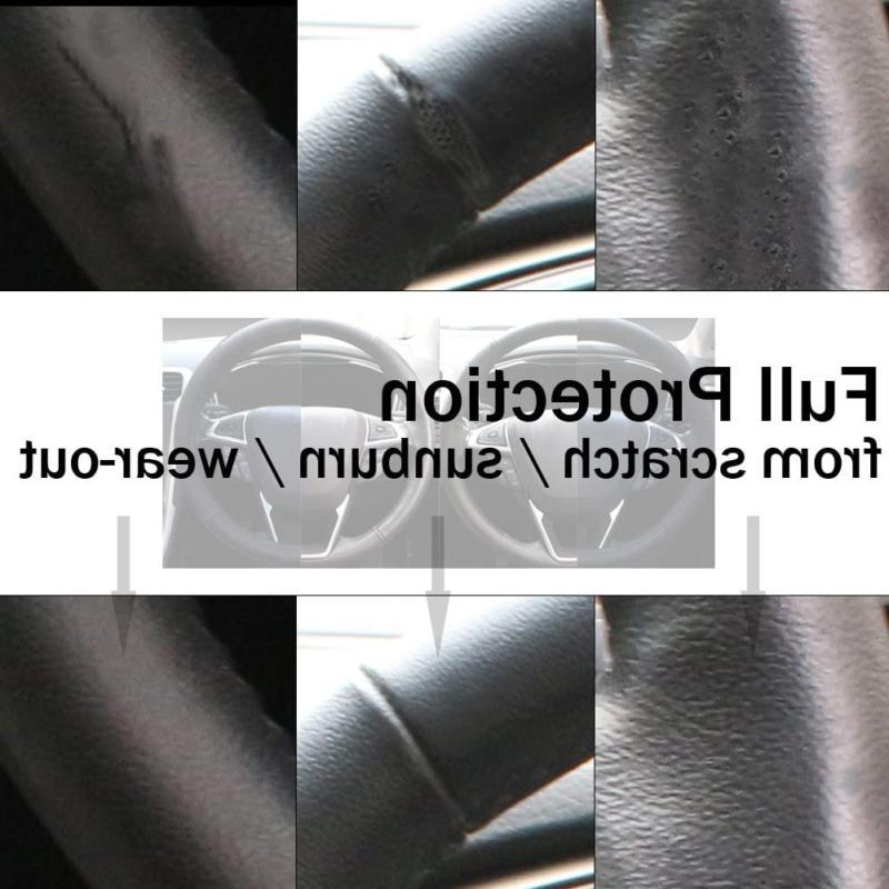 SEG Direct Black Microfiber Leather Auto Steering Wheel i