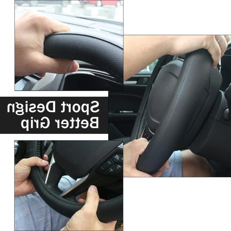 SEG Direct Leather Car Wheel Cover i